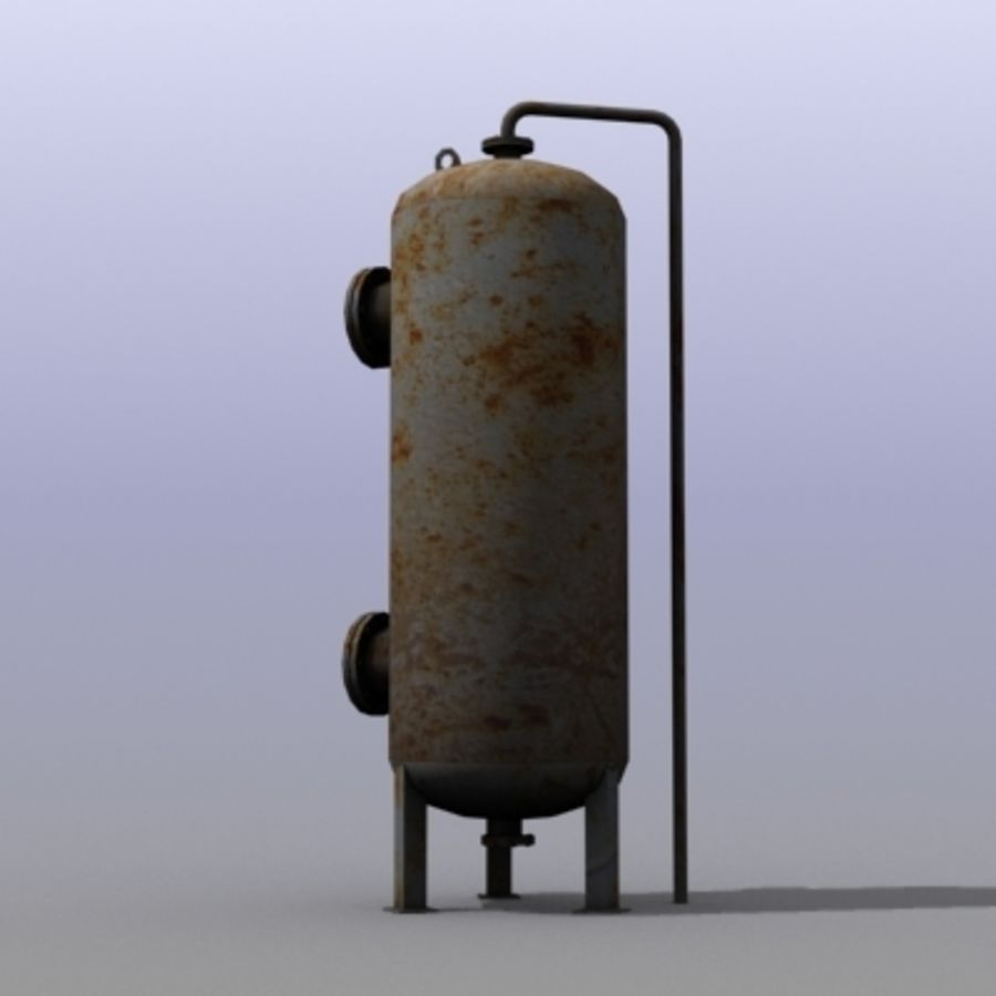 Old Water Tank royalty-free 3d model - Preview no. 3