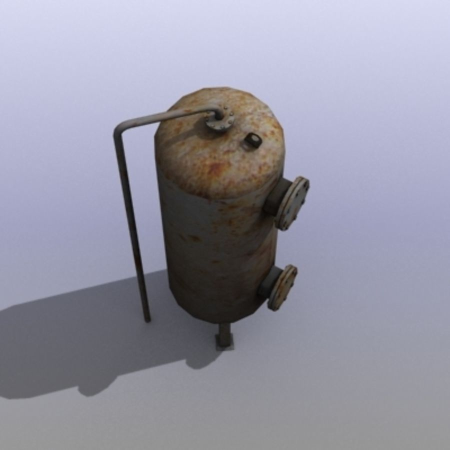 Old Water Tank royalty-free 3d model - Preview no. 8