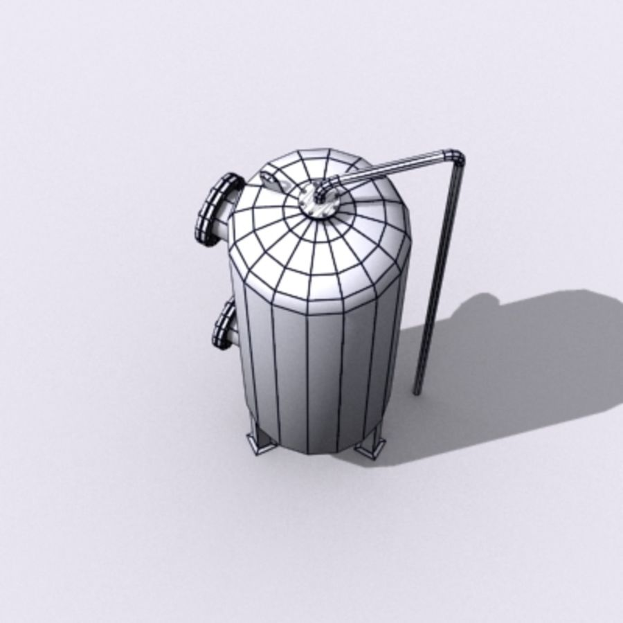 Old Water Tank royalty-free 3d model - Preview no. 11
