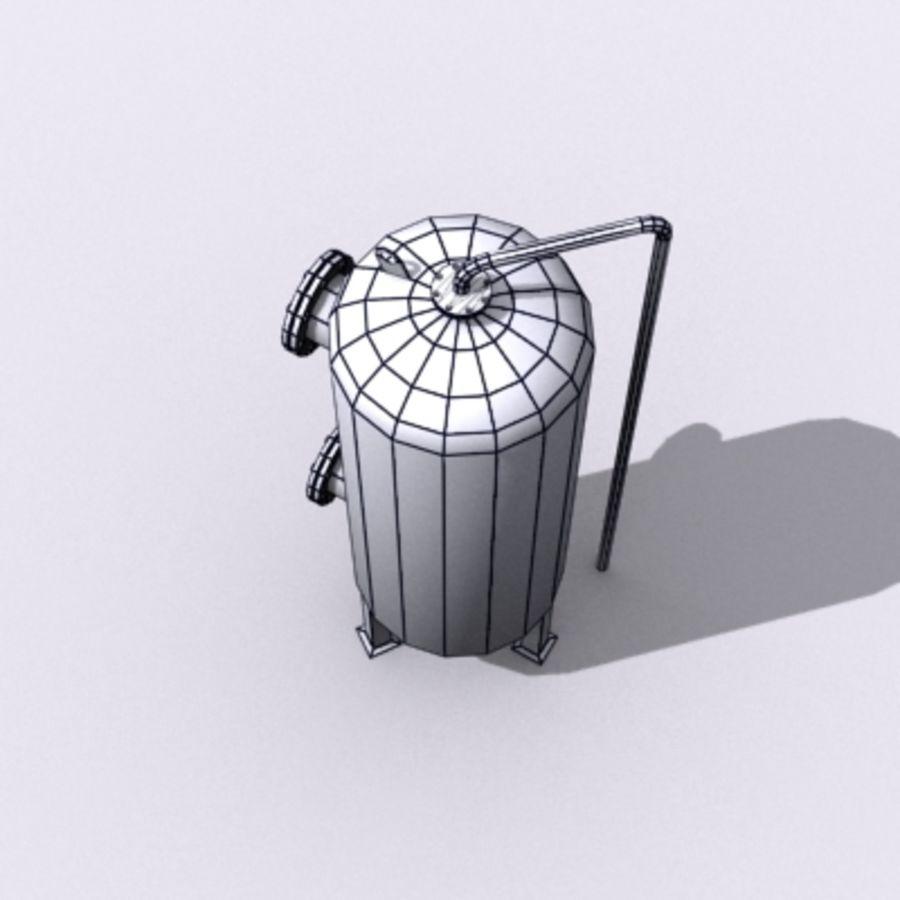Stary zbiornik na wodę royalty-free 3d model - Preview no. 11
