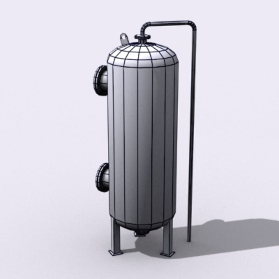 Stary zbiornik na wodę royalty-free 3d model - Preview no. 12