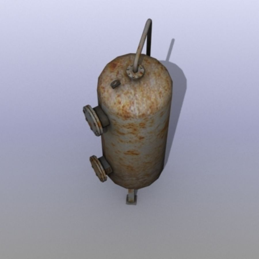 Old Water Tank royalty-free 3d model - Preview no. 6