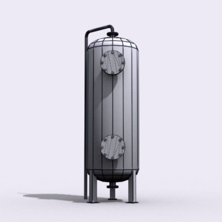 Stary zbiornik na wodę royalty-free 3d model - Preview no. 10