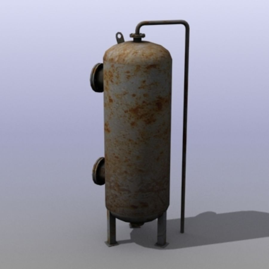 Old Water Tank royalty-free 3d model - Preview no. 4