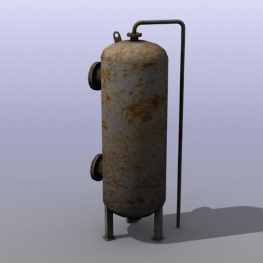 Stary zbiornik na wodę royalty-free 3d model - Preview no. 4