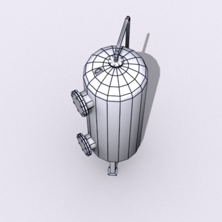 Old Water Tank royalty-free 3d model - Preview no. 16