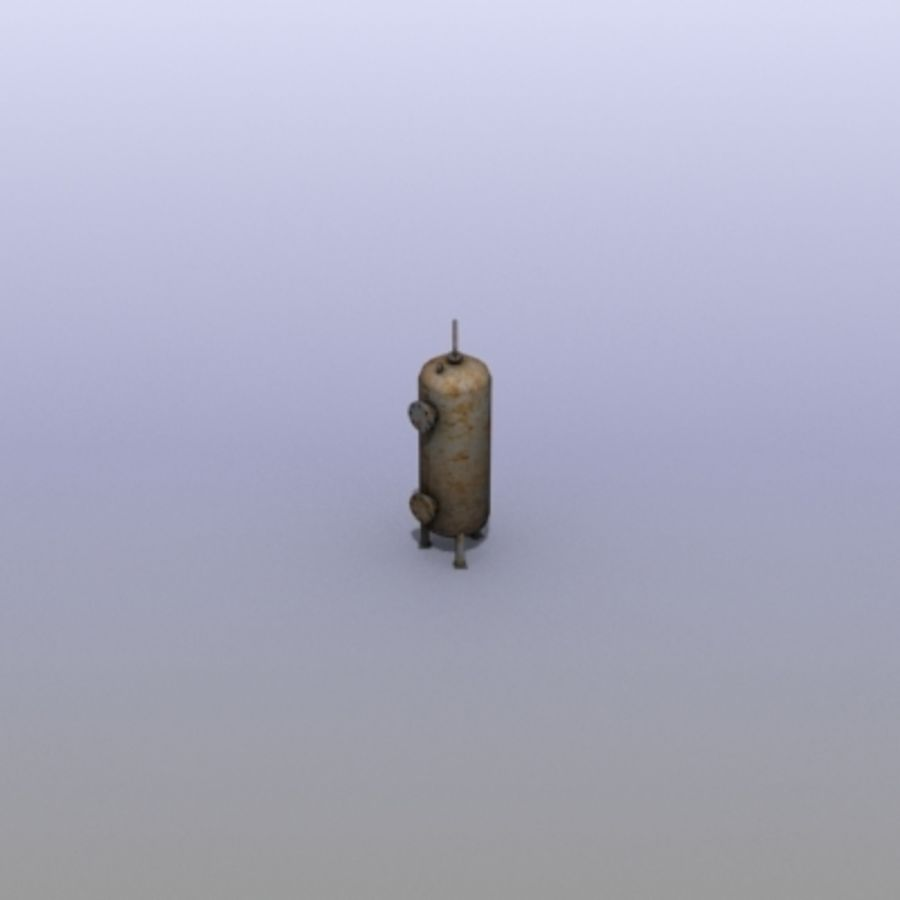 Old Water Tank royalty-free 3d model - Preview no. 9