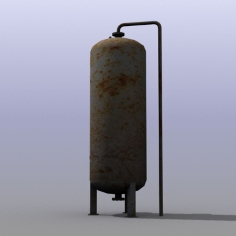 Old Water Tank royalty-free 3d model - Preview no. 5
