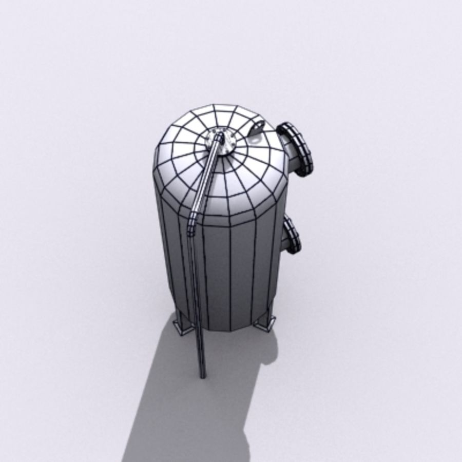 Old Water Tank royalty-free 3d model - Preview no. 13
