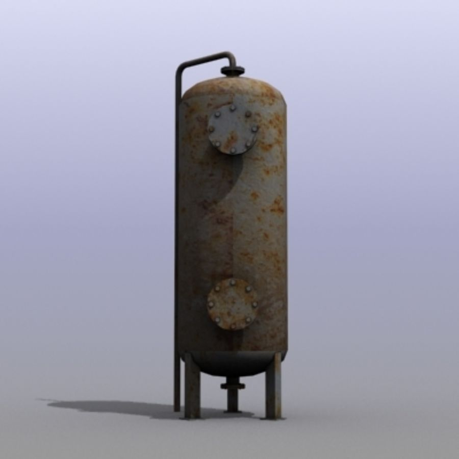 Old Water Tank royalty-free 3d model - Preview no. 2