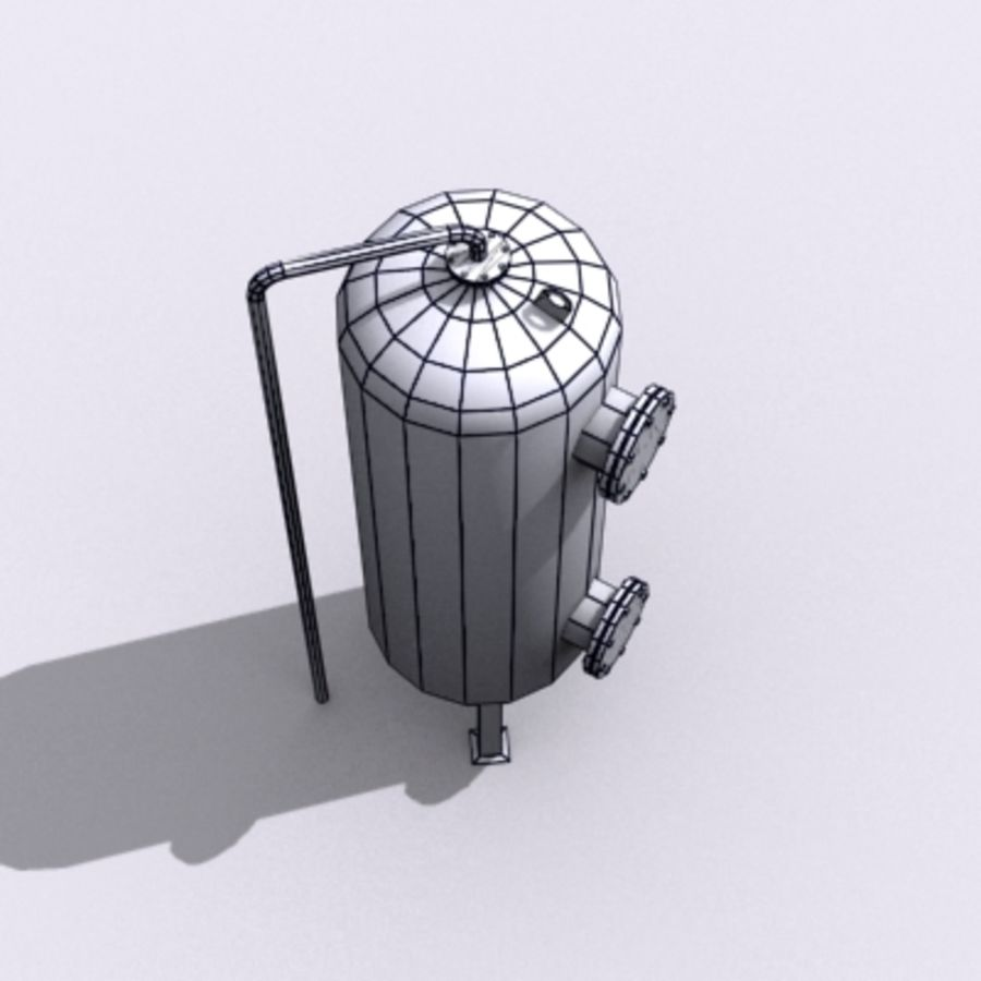 Old Water Tank royalty-free 3d model - Preview no. 17