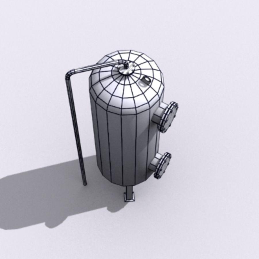 Stary zbiornik na wodę royalty-free 3d model - Preview no. 17