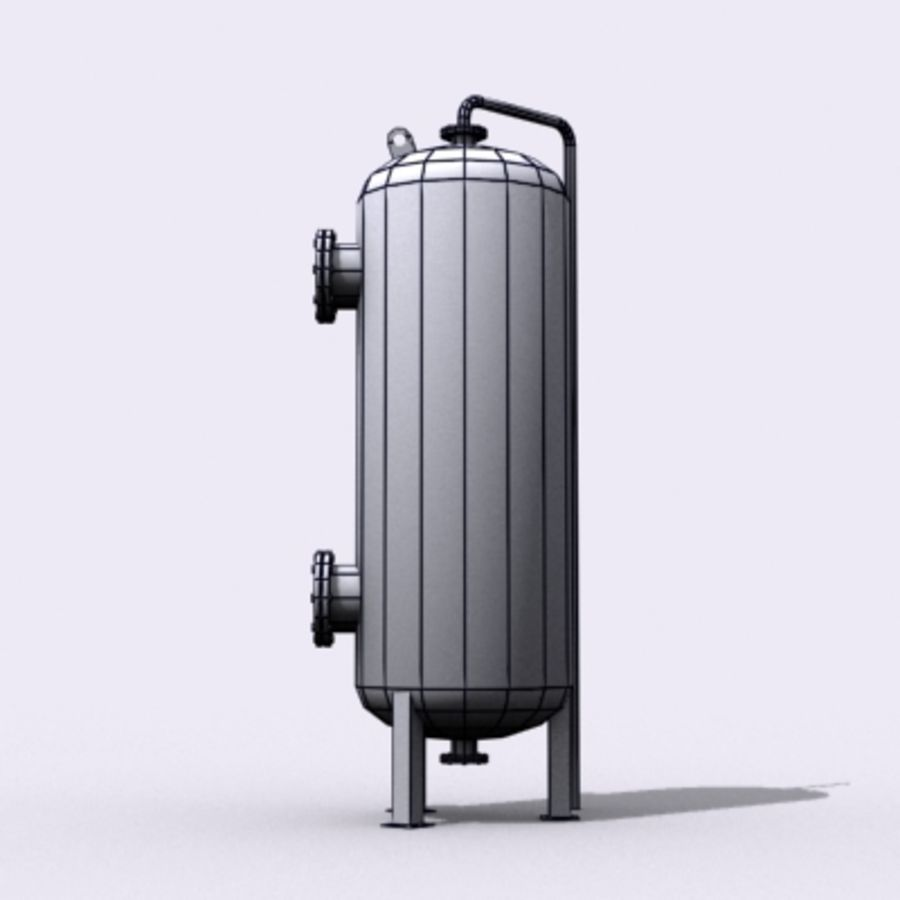 Old Water Tank royalty-free 3d model - Preview no. 14