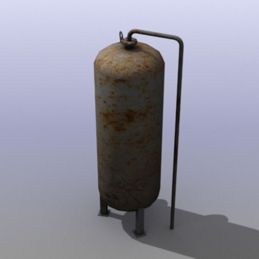 Old Water Tank royalty-free 3d model - Preview no. 7