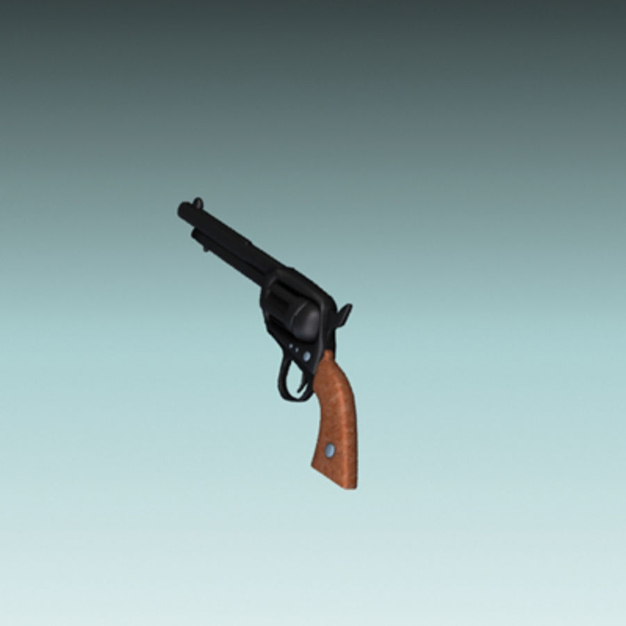 pistolet royalty-free 3d model - Preview no. 3