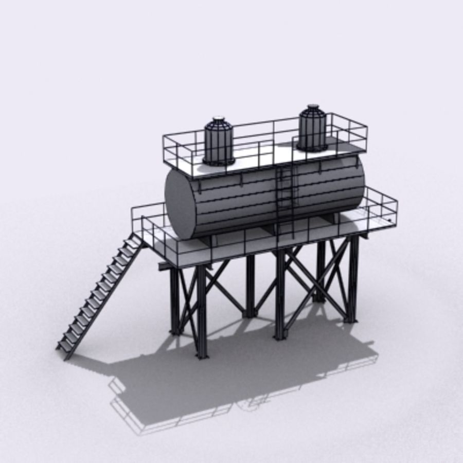 Huge Water Tank royalty-free 3d model - Preview no. 19