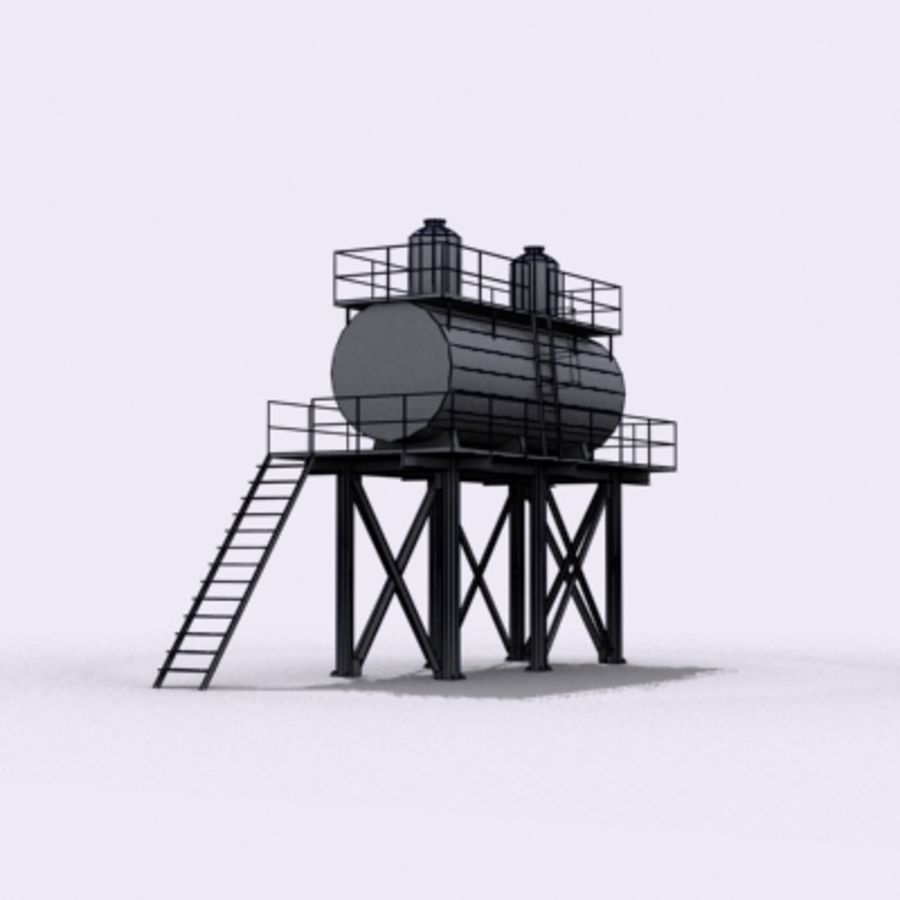 Huge Water Tank royalty-free 3d model - Preview no. 22