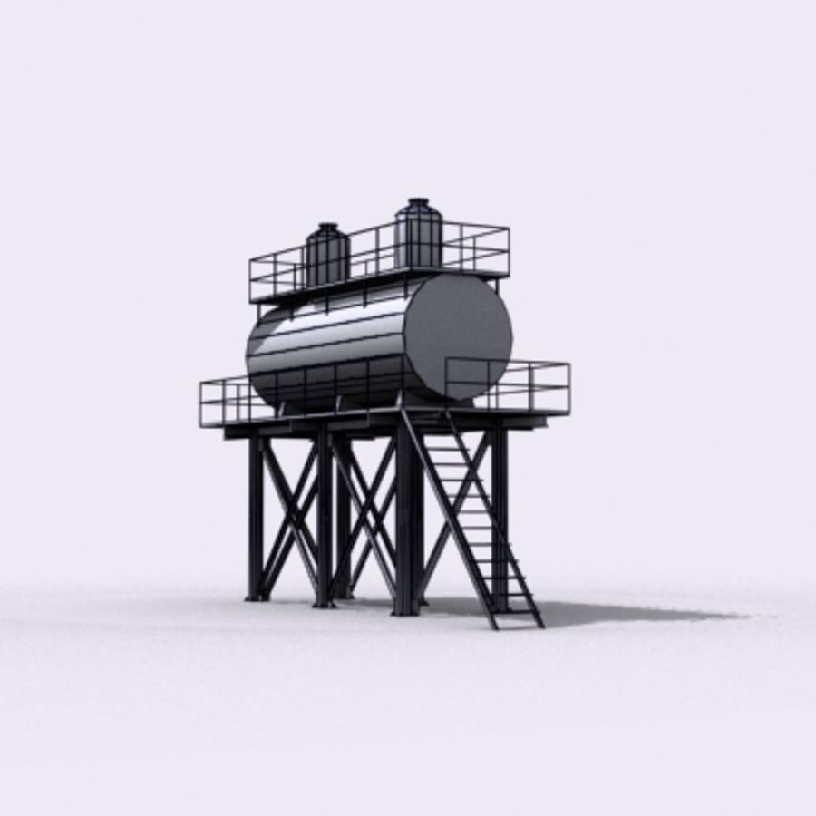 Huge Water Tank royalty-free 3d model - Preview no. 21