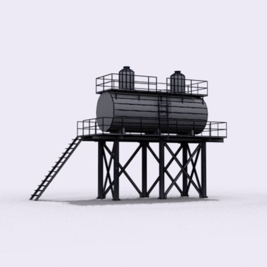 Huge Water Tank royalty-free 3d model - Preview no. 16