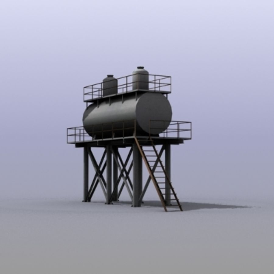Huge Water Tank royalty-free 3d model - Preview no. 8