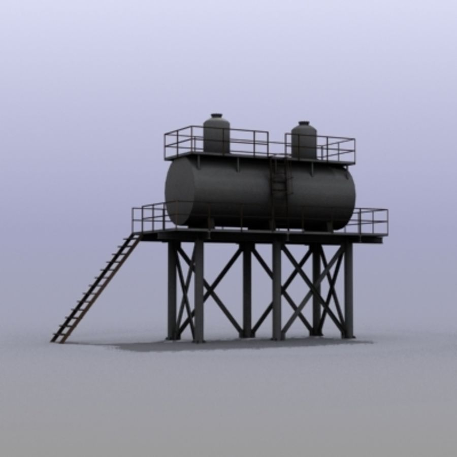 Huge Water Tank royalty-free 3d model - Preview no. 3