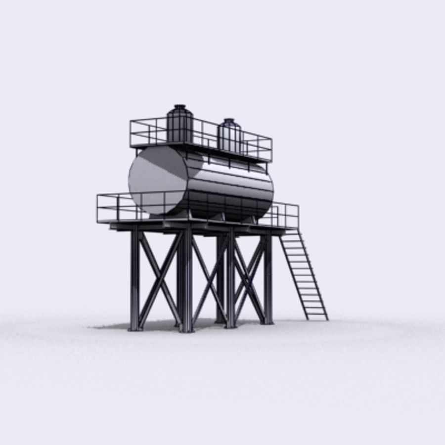 Huge Water Tank royalty-free 3d model - Preview no. 20