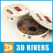Cookies box by 3DRivers 3d model