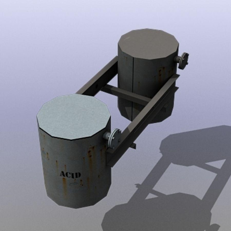 Acid Tanks royalty-free 3d model - Preview no. 3
