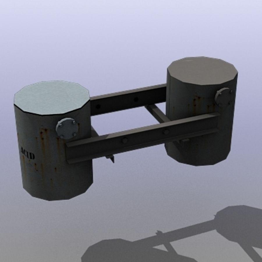 Acid Tanks royalty-free 3d model - Preview no. 2