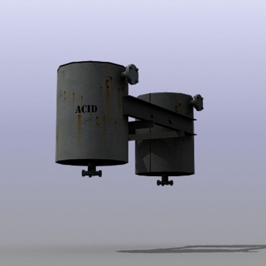 Acid Tanks royalty-free 3d model - Preview no. 1