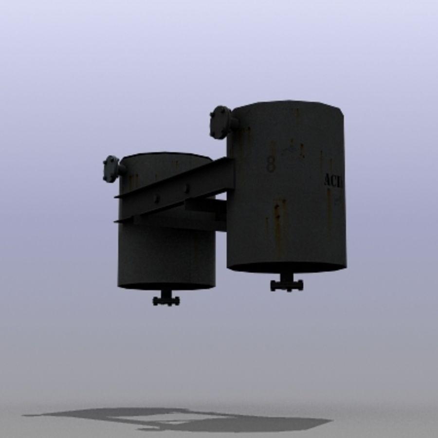 Acid Tanks royalty-free 3d model - Preview no. 4