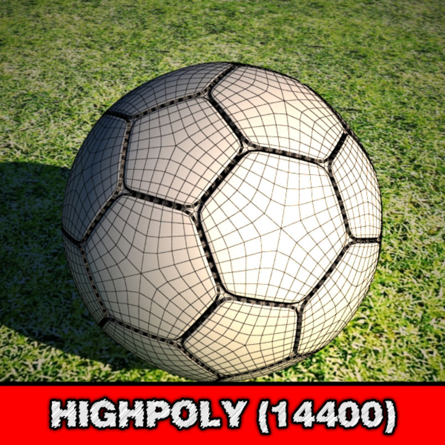 Voetbal royalty-free 3d model - Preview no. 2