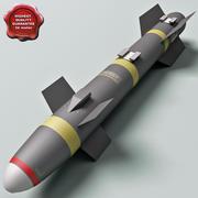 Aircraft Missile AGM-114 Hellfire 3d model