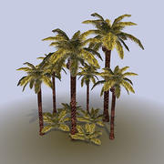 Palm_tree_bush 3d model