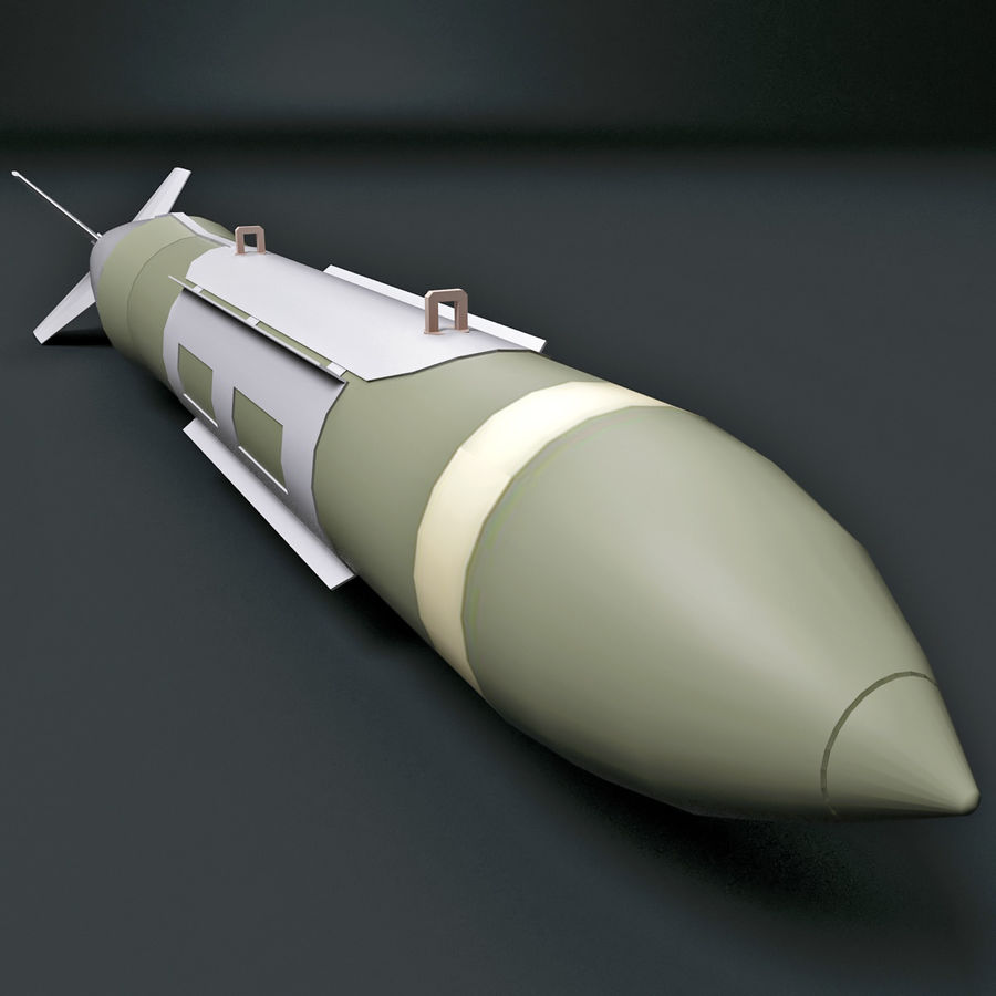 Aircraft Bomb GBU-31 JDAM with BLU-109 warhead royalty-free 3d model - Preview no. 7