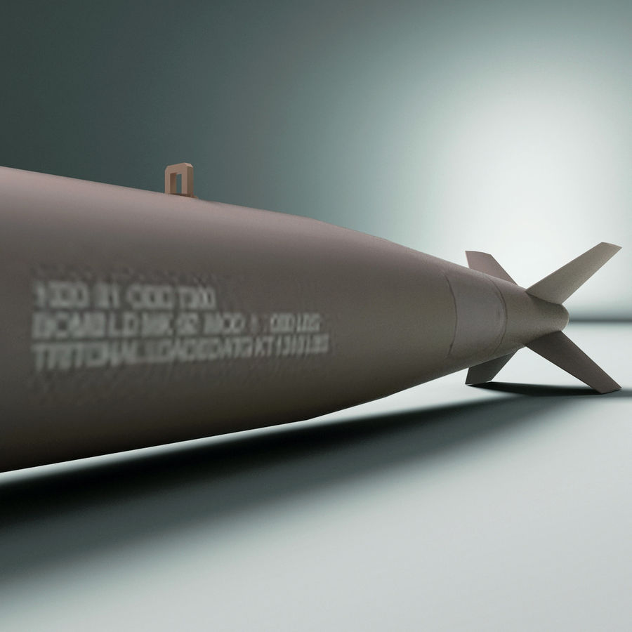 Aircraft Bomb Mk-82 Conical Fin royalty-free 3d model - Preview no. 6