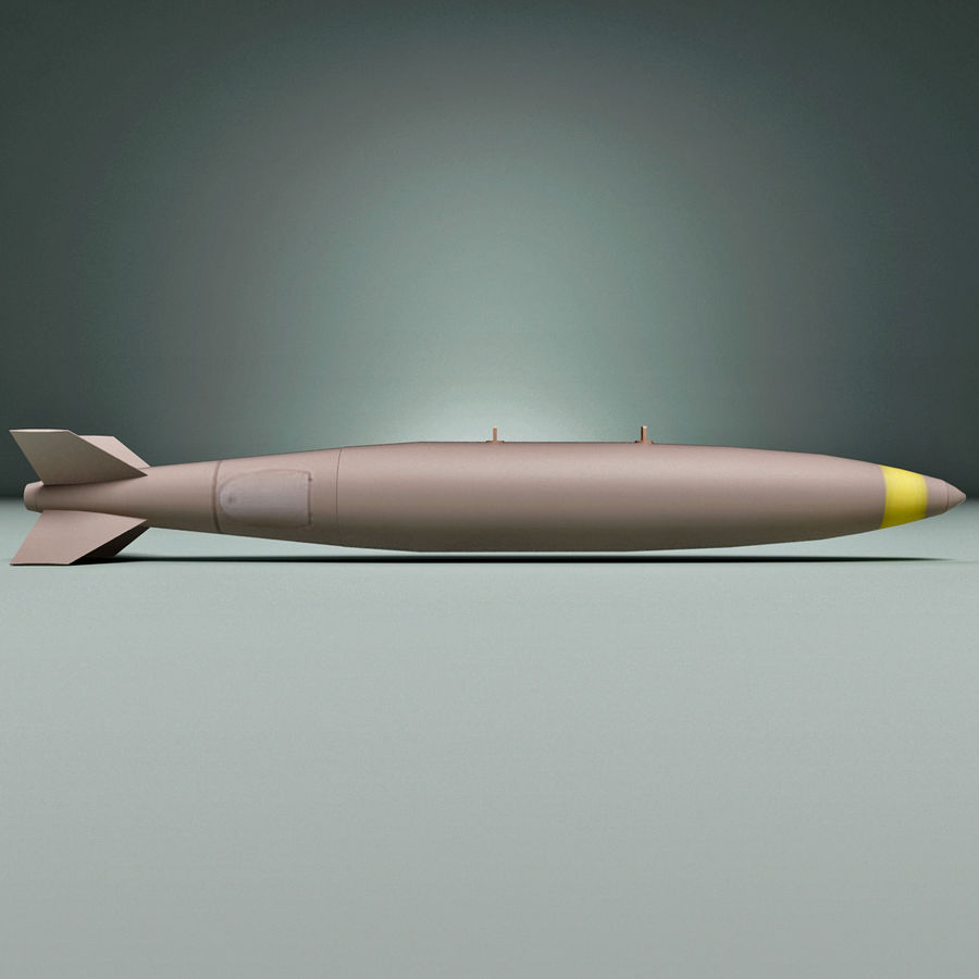 Aircraft Bomb Mk-82 Conical Fin royalty-free 3d model - Preview no. 3