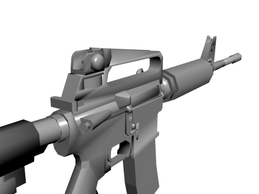 M4 Carbine royalty-free 3d model - Preview no. 4