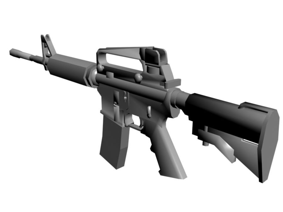 M4 Carbine royalty-free 3d model - Preview no. 3