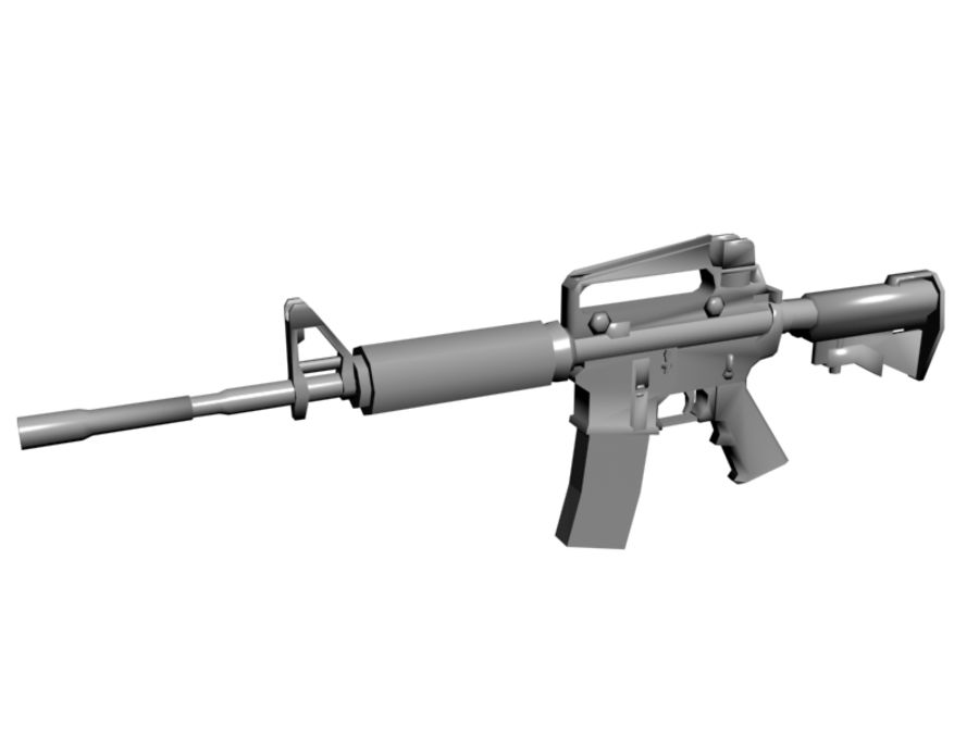 M4 Carbine royalty-free 3d model - Preview no. 1