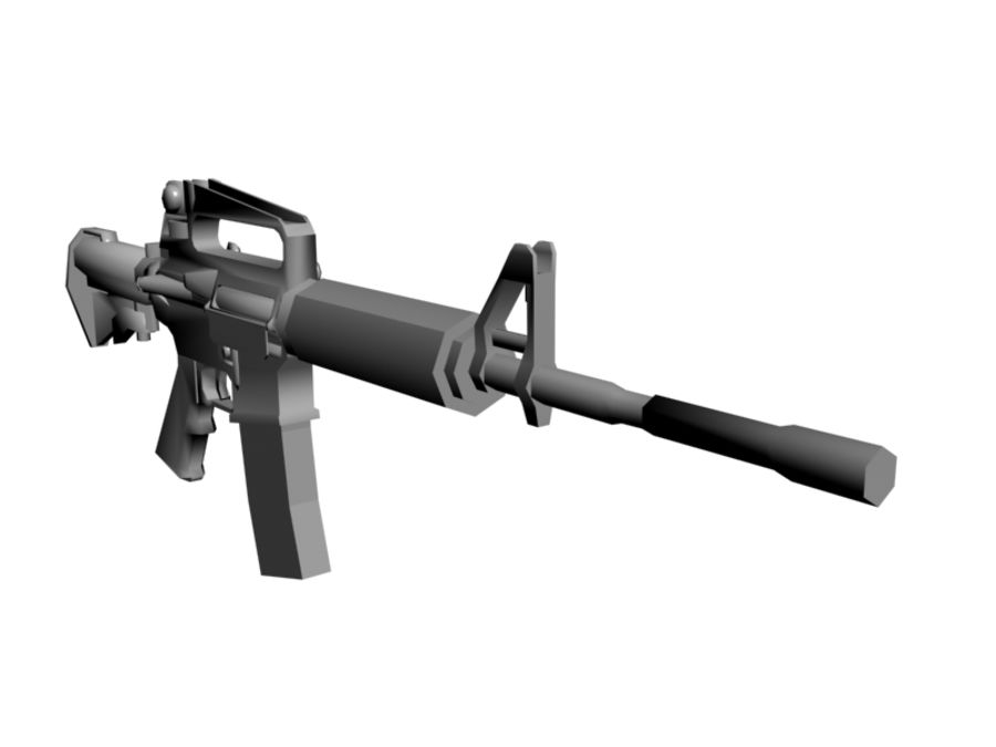 M4 Carbine royalty-free 3d model - Preview no. 5