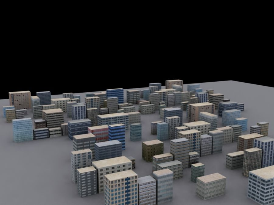 Buildings royalty-free 3d model - Preview no. 1
