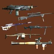 pistole pesanti 3d model