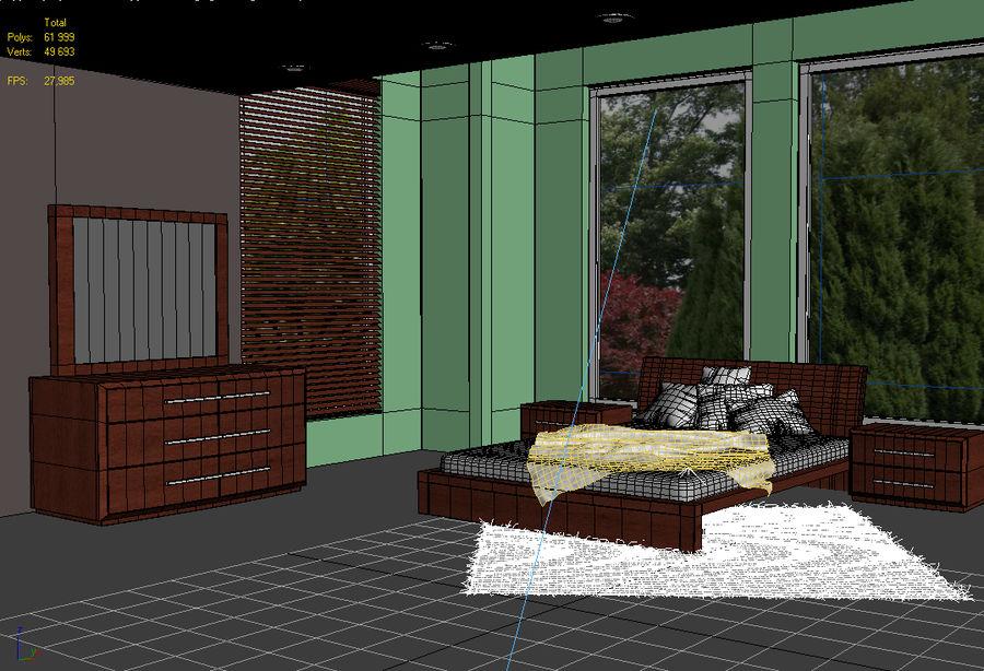 Modern Bedroom Interior Scene (Vray) 3D Model $20 - .dwg .obj .3ds ...