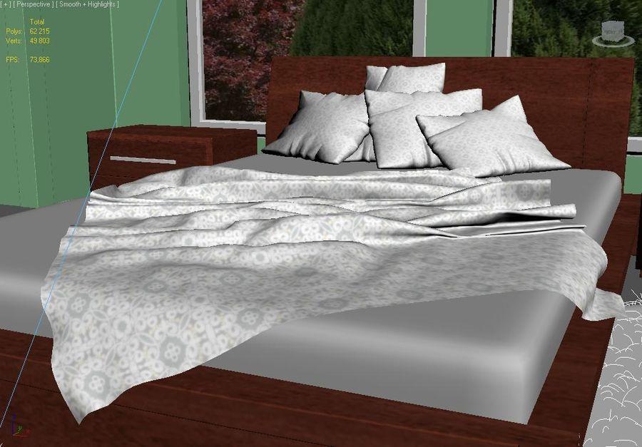 Scène d\'intérieur de chambre à coucher moderne (Vray) modèle ...