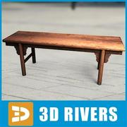 Simple Chinese bench by 3DRivers 3d model