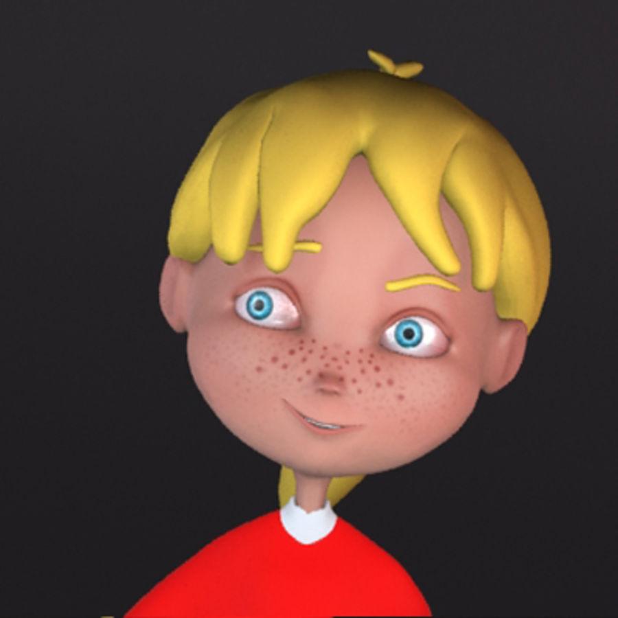 Cartoon girl lydia royalty-free 3d model - Preview no. 7