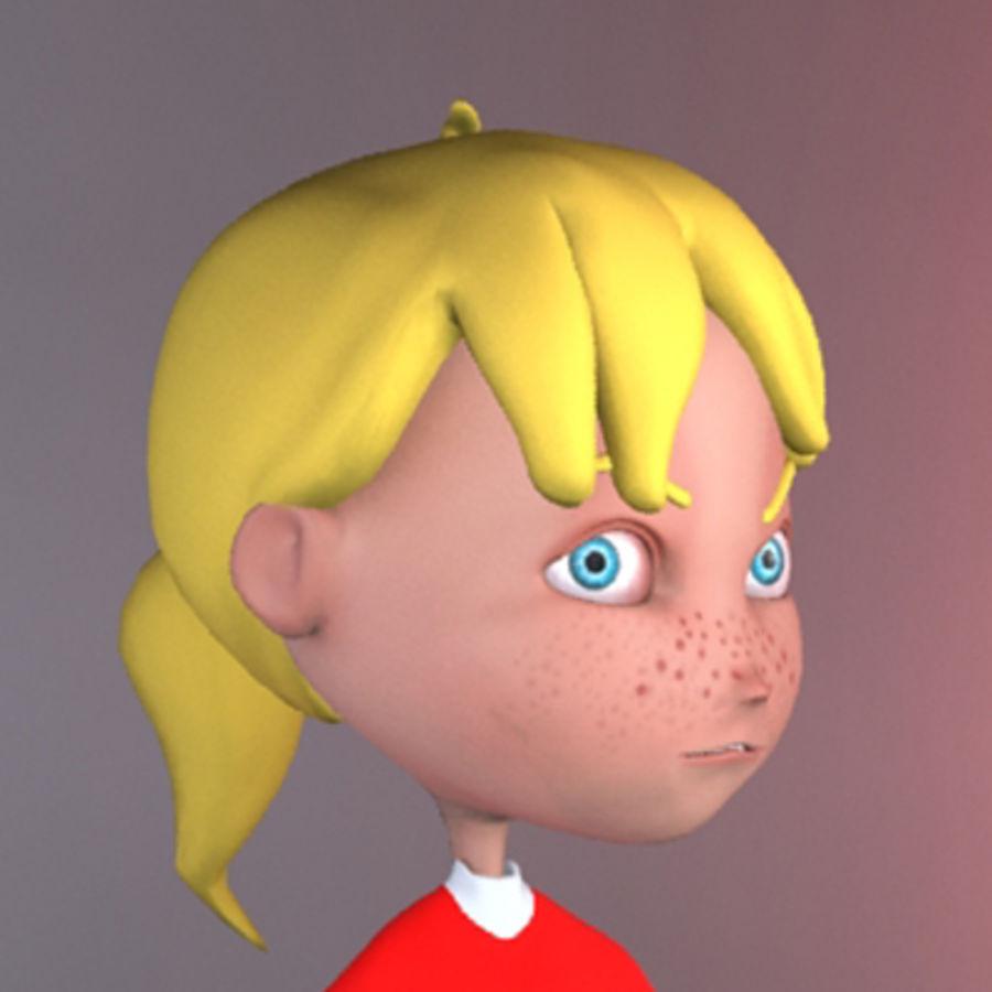 Cartoon girl lydia royalty-free 3d model - Preview no. 8