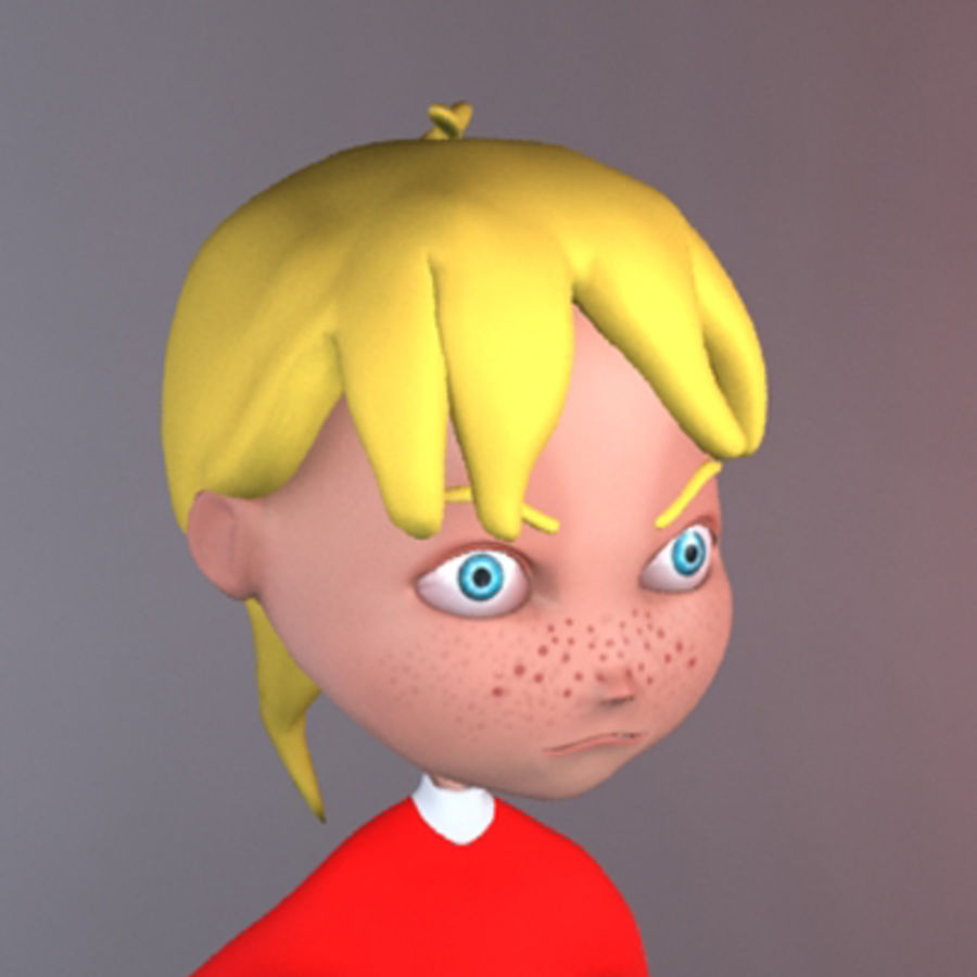 Cartoon girl lydia royalty-free 3d model - Preview no. 18