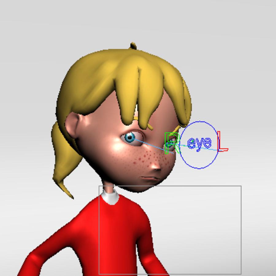 Cartoon girl lydia royalty-free 3d model - Preview no. 11
